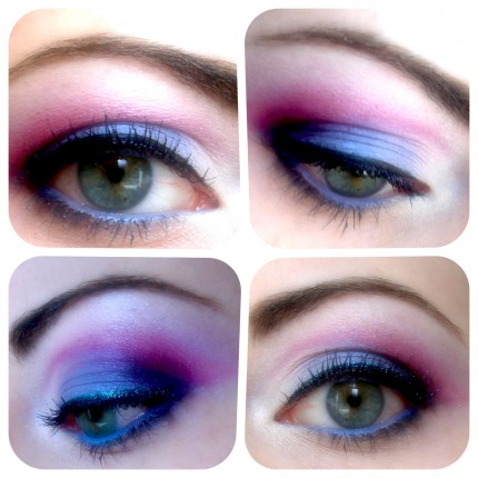 Patriotic July 4 Eye Makeup