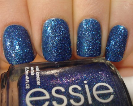 Essie Lots of Luxe Blue Lapis Sandy Holiday Nail Polish Swatch